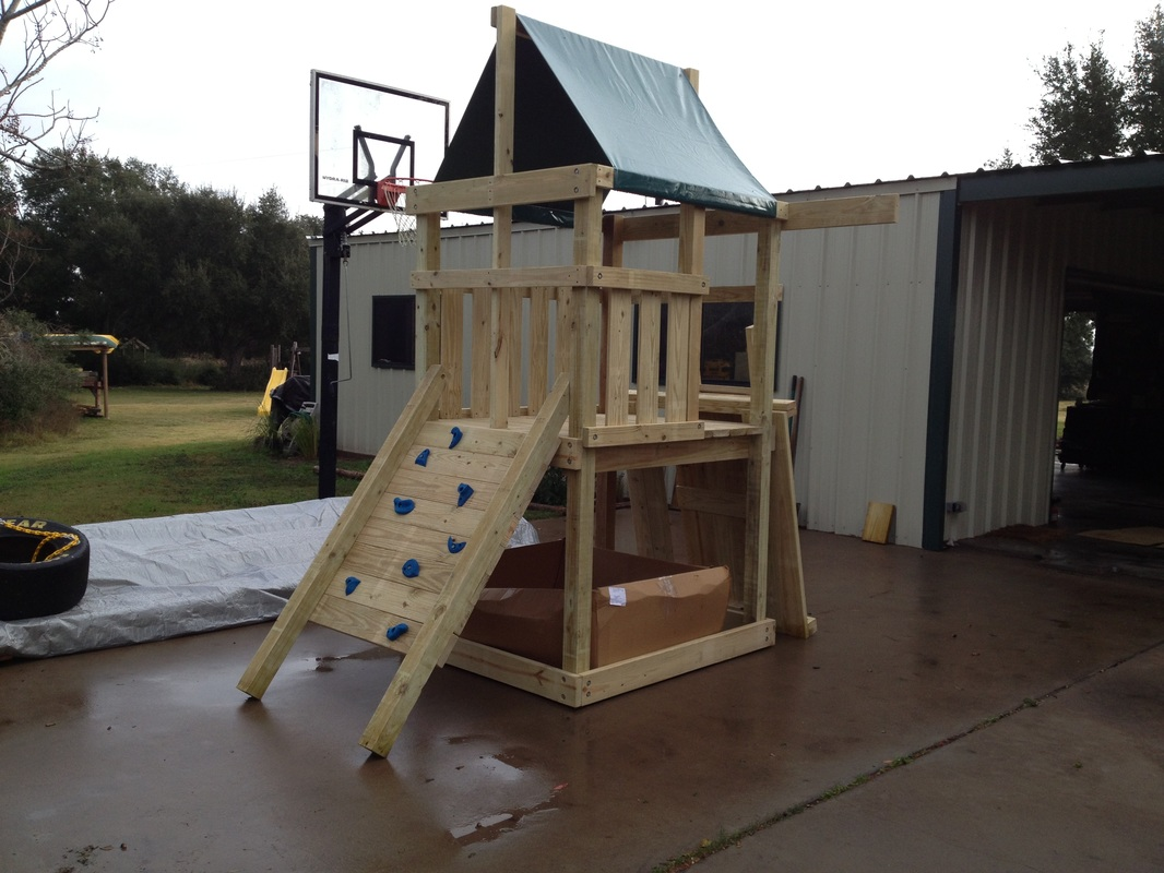 How to build endeavor diy wood fort swing set plans for Backyard playset plans