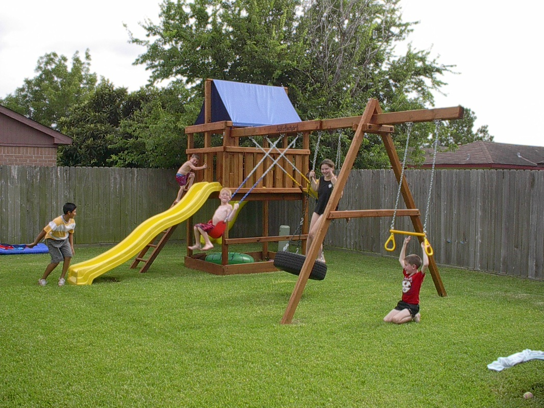 Neighborhood Fun On A DIY Triton Wooden Playset