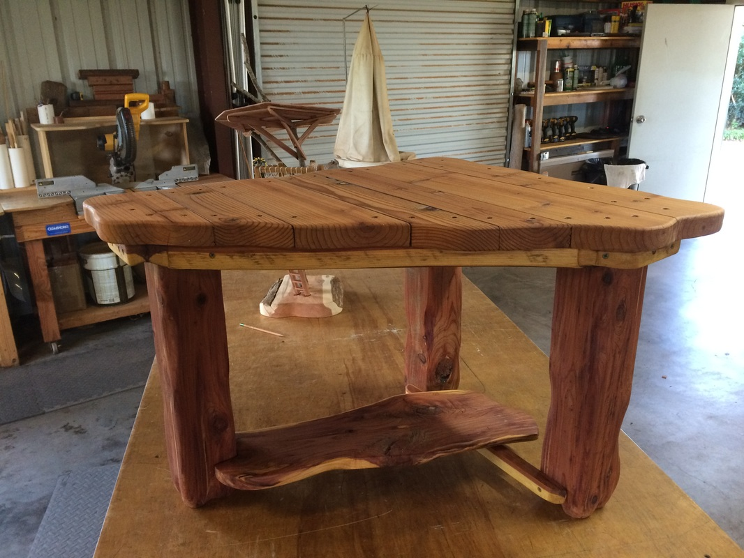 Reclaimed Wood End Table Using Treehouse Cut-offs