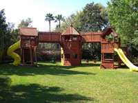One of a Kind Backyard Wood Playsets