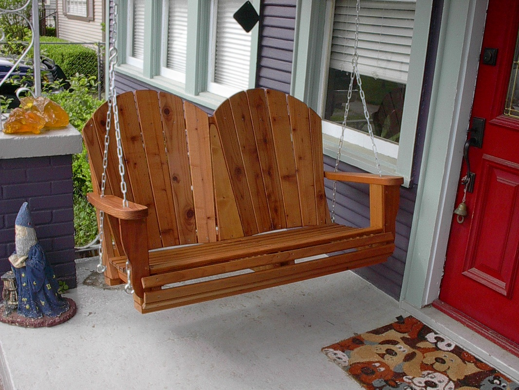 4' Corona Redwood Porch Swing