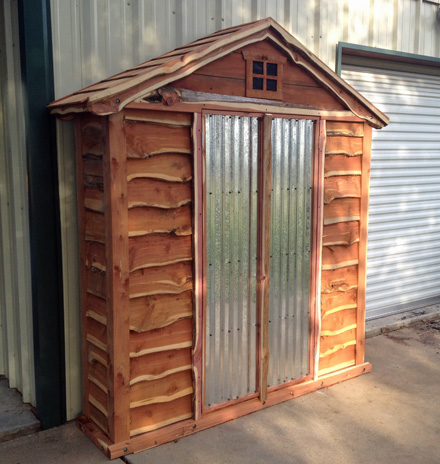 Eastern Red Cedar Garden Shed Made from Leftover Parts
