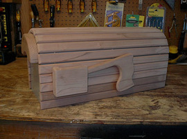 DIY Wood Mailbox Cover Plans. Coming Soon!